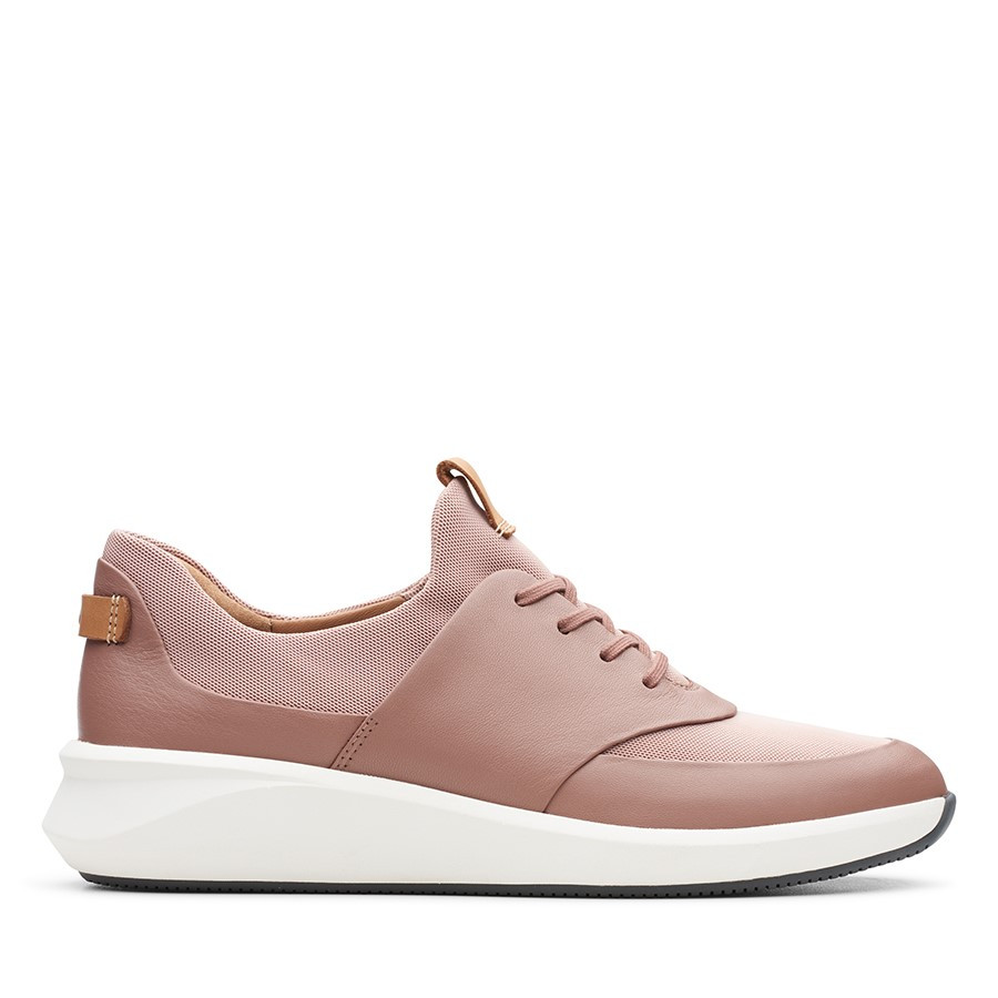Clarks Un Rio Lace Blush Leather