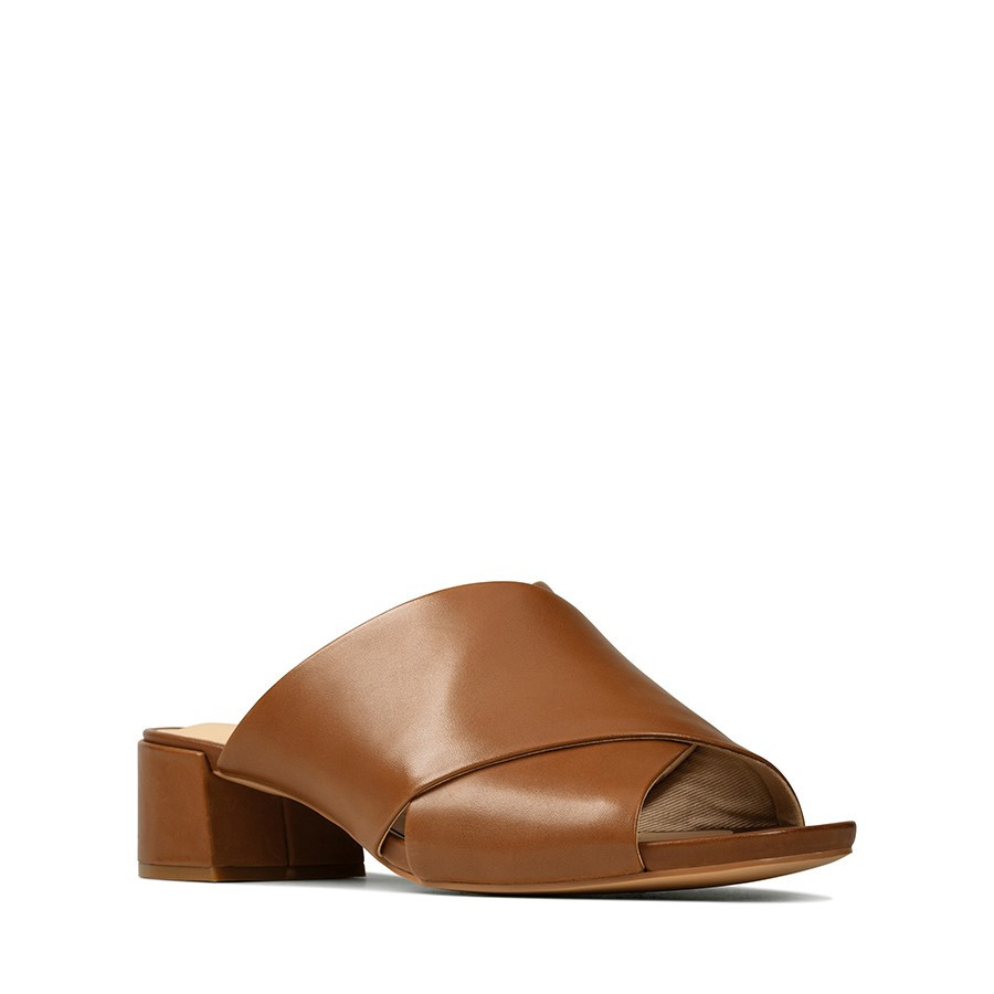 Clarks Sheer35 Mule Tan Leather