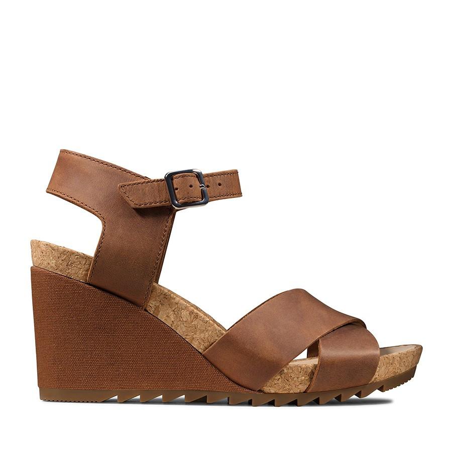 Clarks Flex Sun Tan Leather