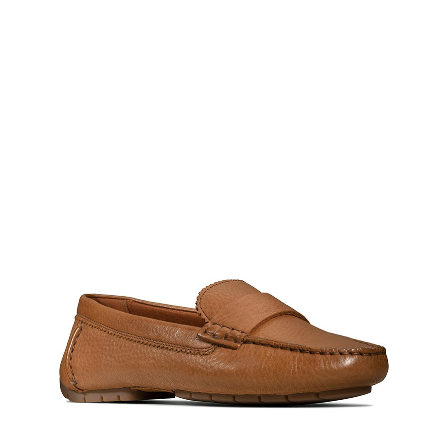Clarks C Mocc Tan Leather