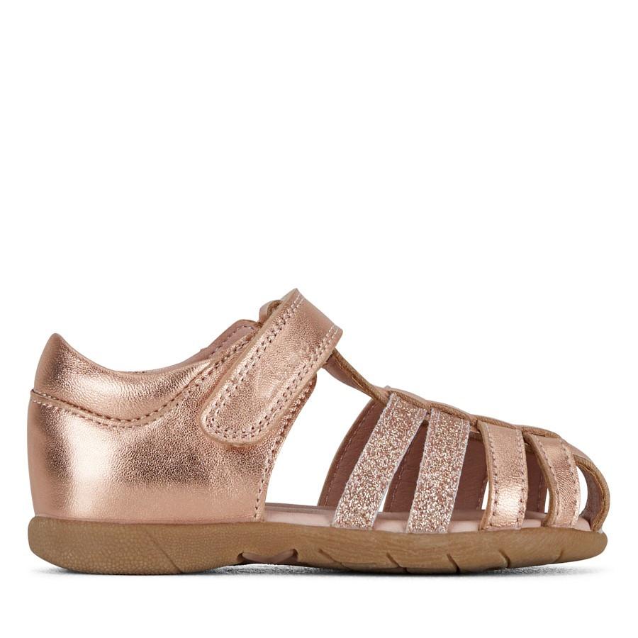 Clarks Shelly Rose Gold/Glitter