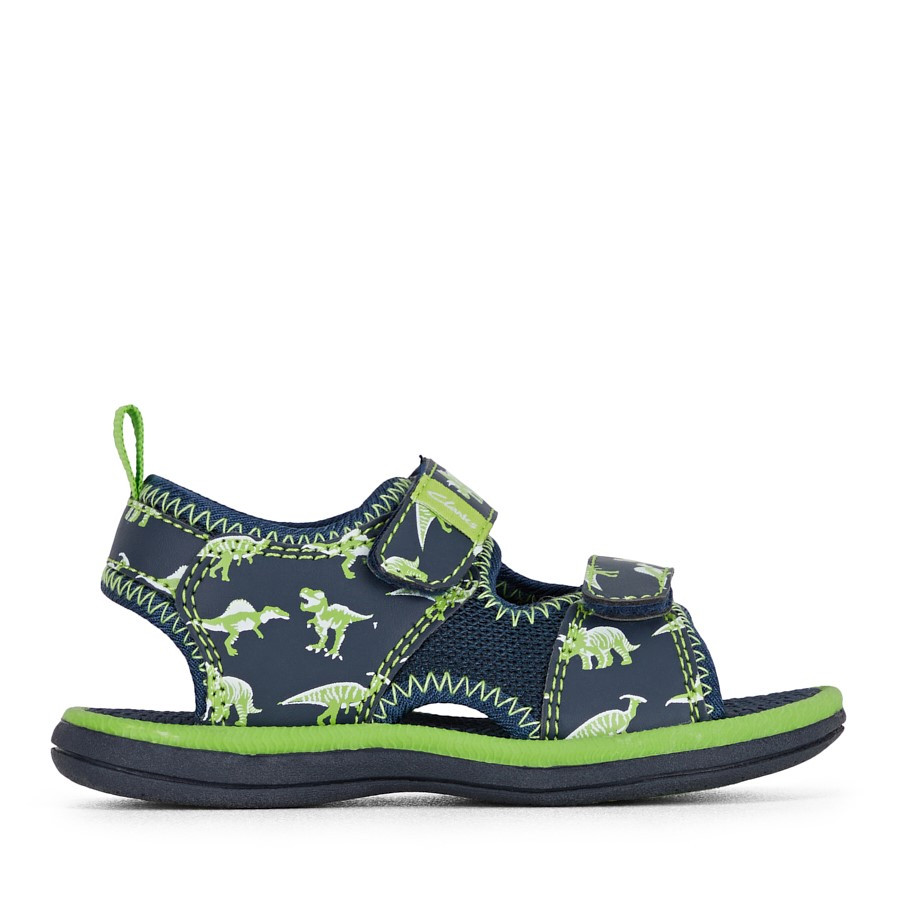 Clarks Fred Navy/Lime