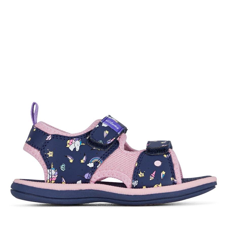 Clarks Frida Navy/Pink