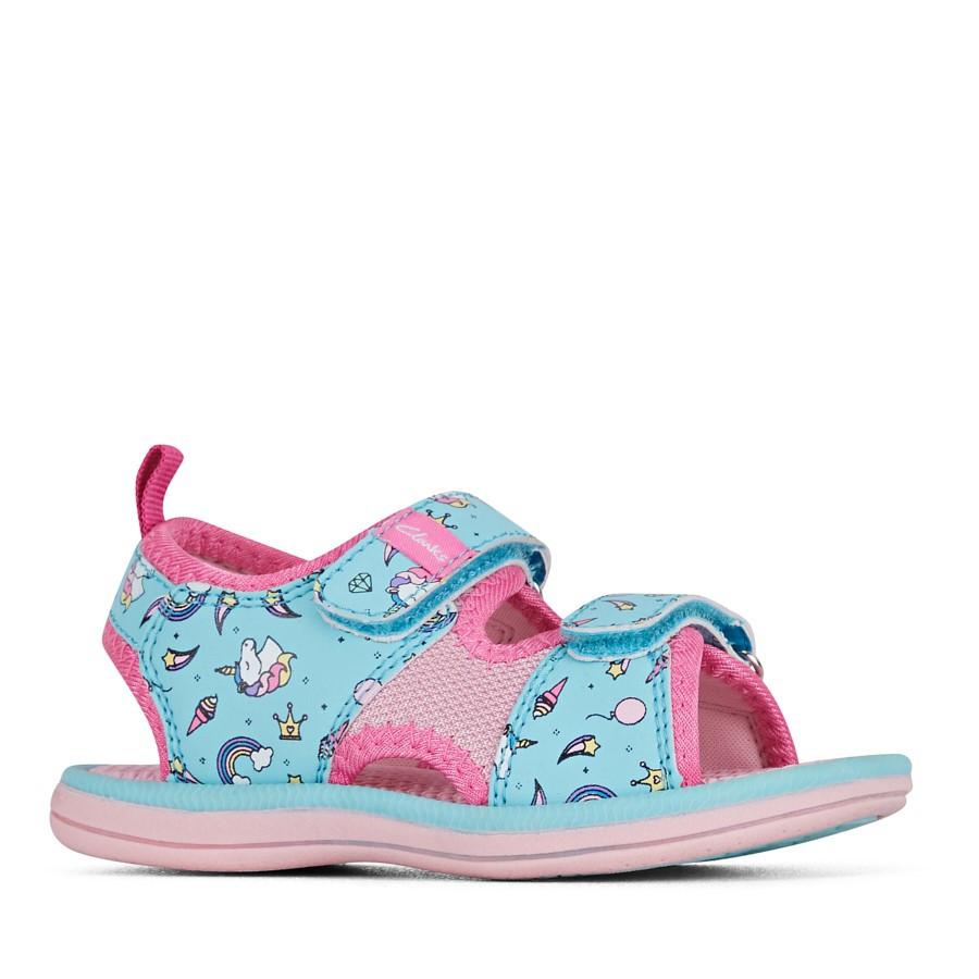 Clarks Frida Turquoise/Pink