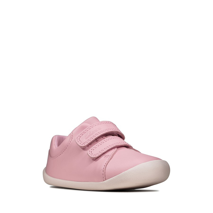 Clarks Roamer Craft T Pink Leather
