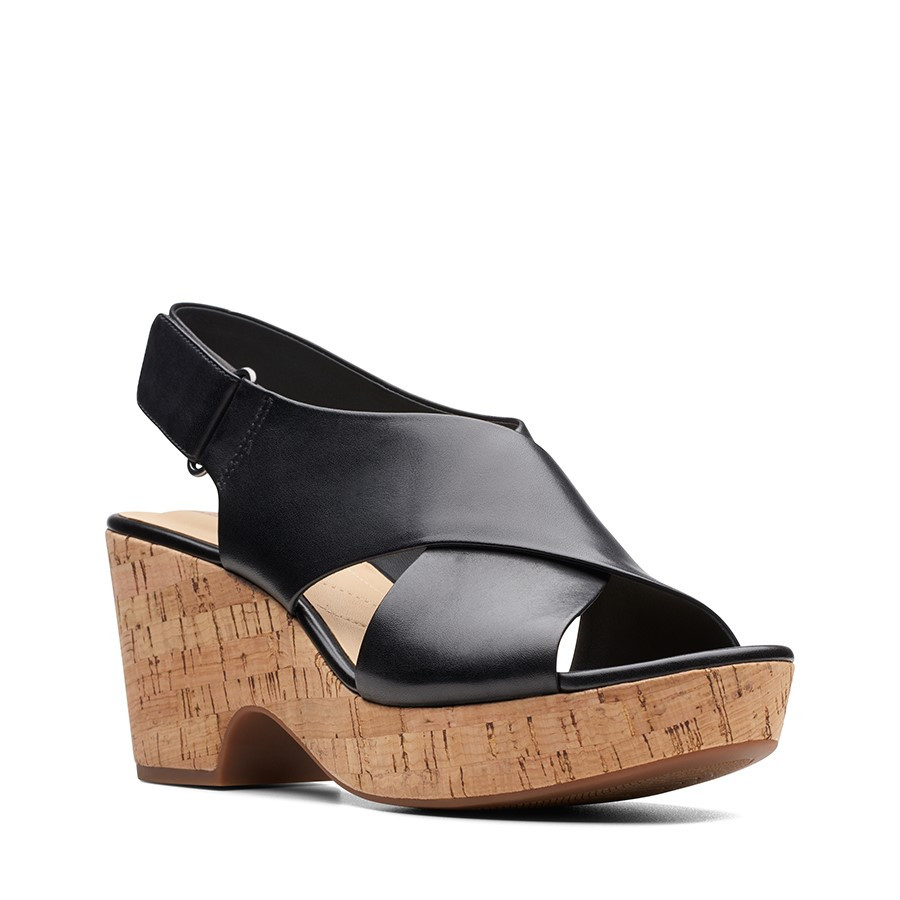 Clarks Maritsa Lara Black Leather