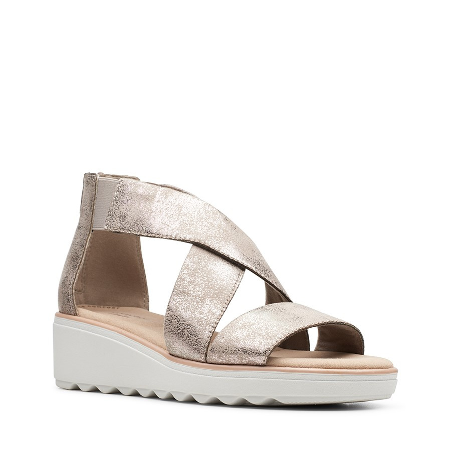 Clarks Jillian Rise Pewter Metallic