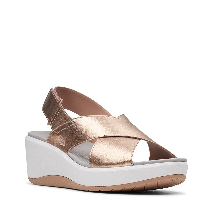 Clarks Step Cali Cove Rose Gold