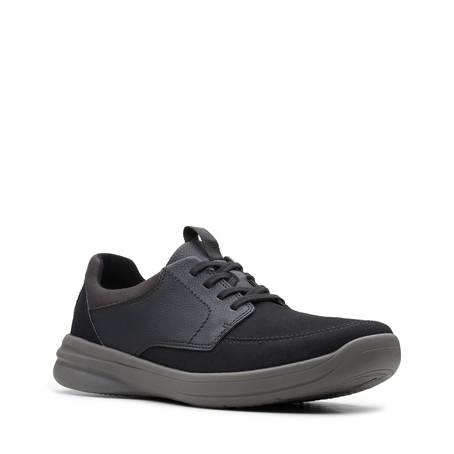 Clarks Stepstroll Lace Black Leather