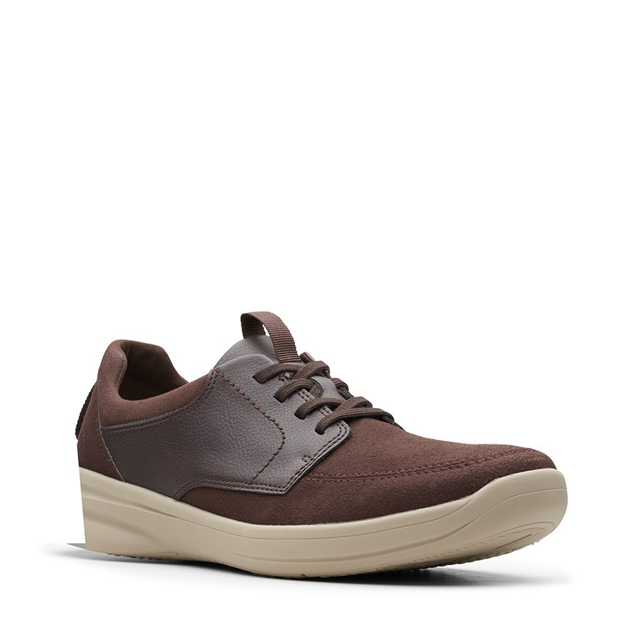 Clarks Stepstroll Lace Brown Leather