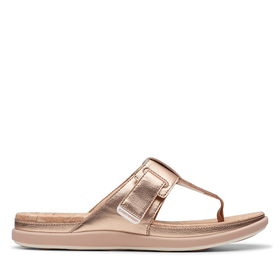 Clarks Step June Reef Rose Gold Synthetic
