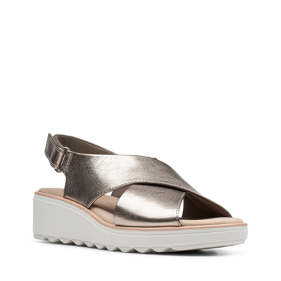 Clarks Jillian Jewel Metallic Leather