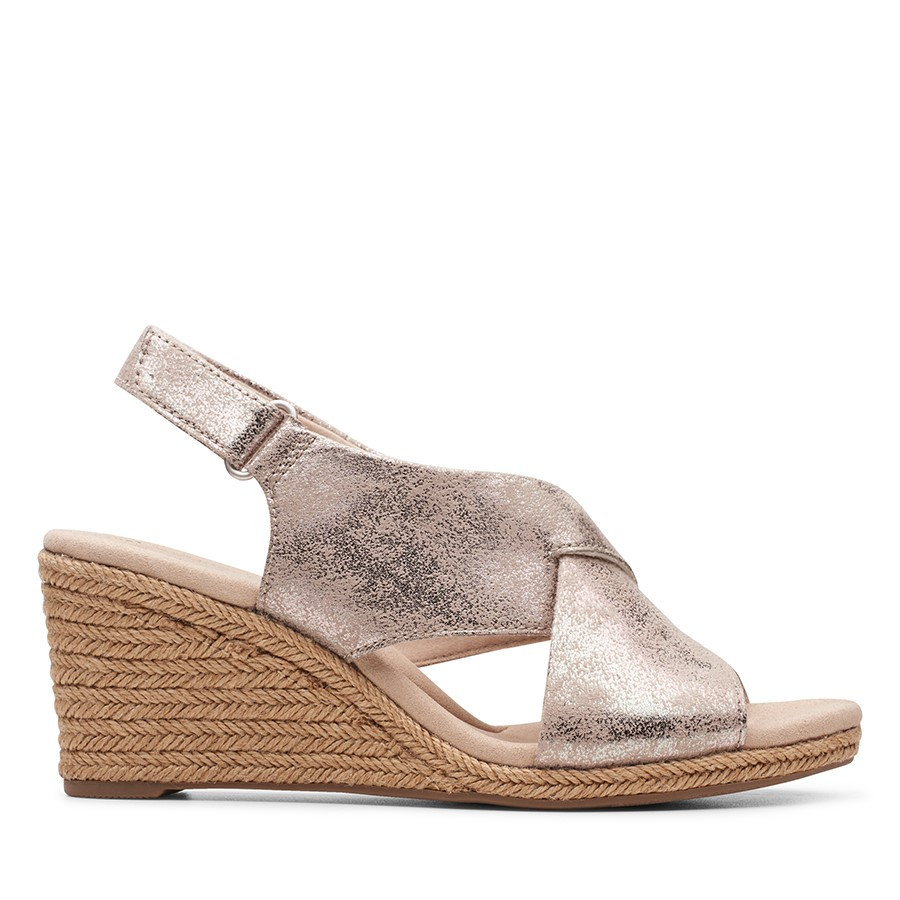 Clarks Lafley Alaine Pewter Leather