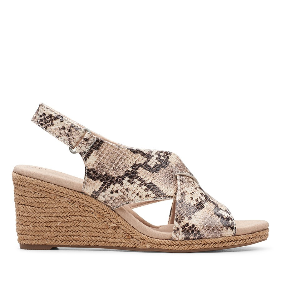 Clarks Lafley Alaine Taupe Snake