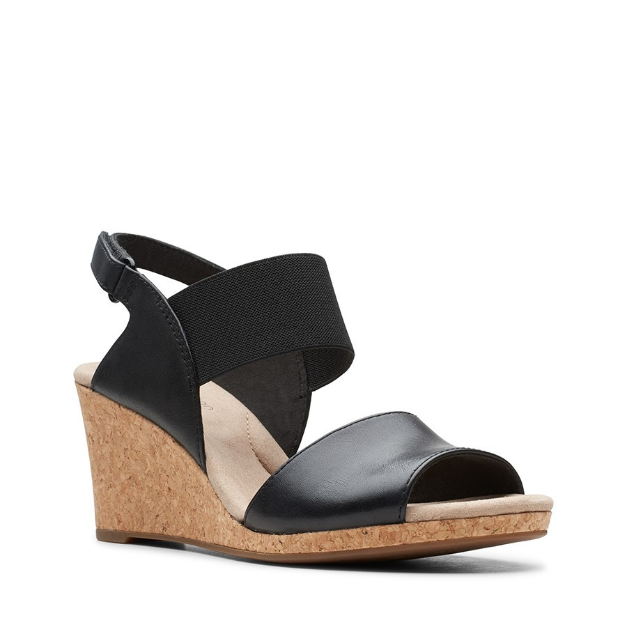 Clarks Lafley Lily Black Leather