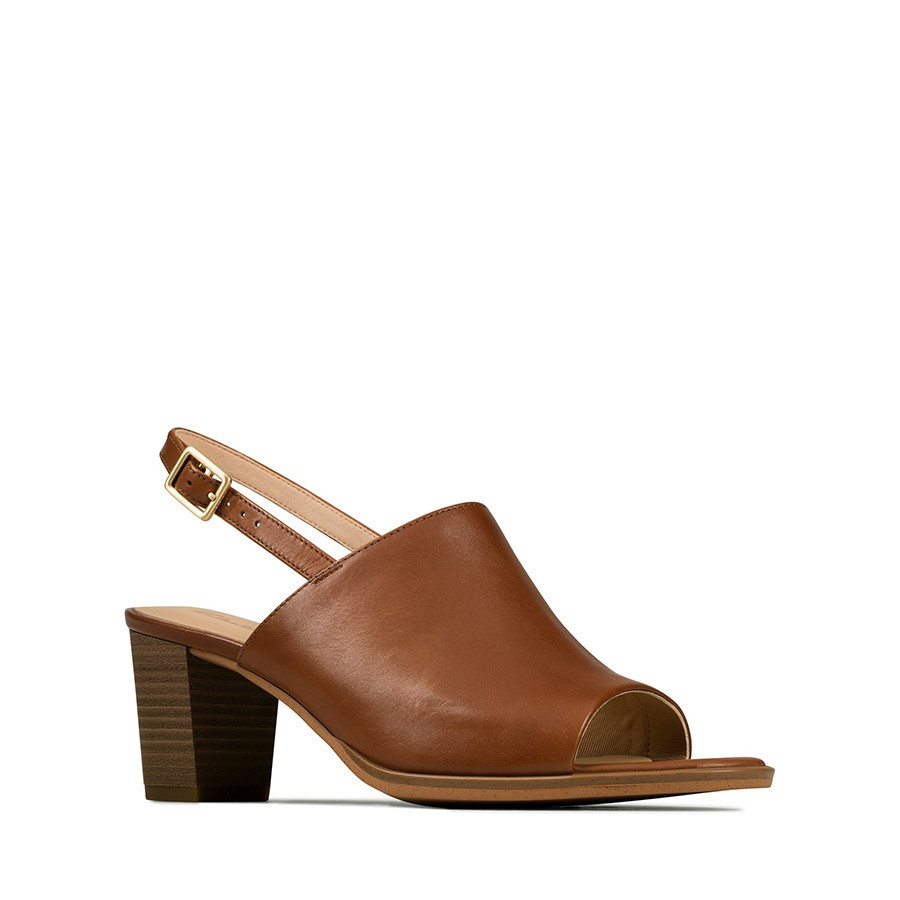 Clarks Kaylin60 Sling Tan Leather