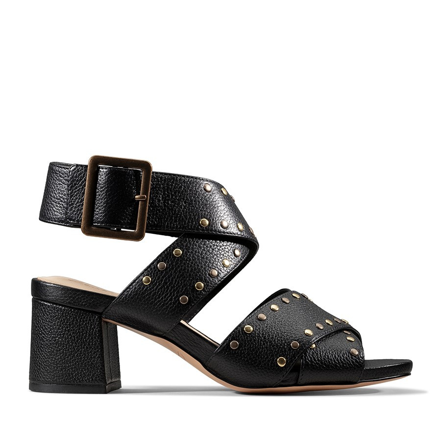 Clarks Sheer55 Buckle Black Leather