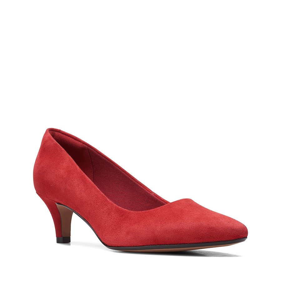 Clarks Linvale Jerica Red Suede