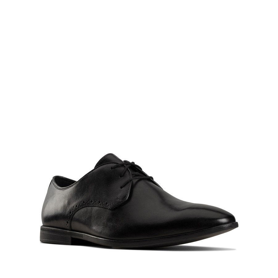 Clarks Bampton Park Black Leather