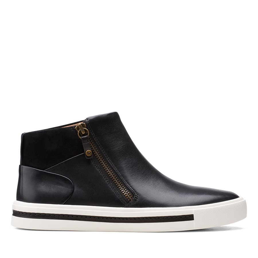 Clarks Un Maui Free Black Combo Leather