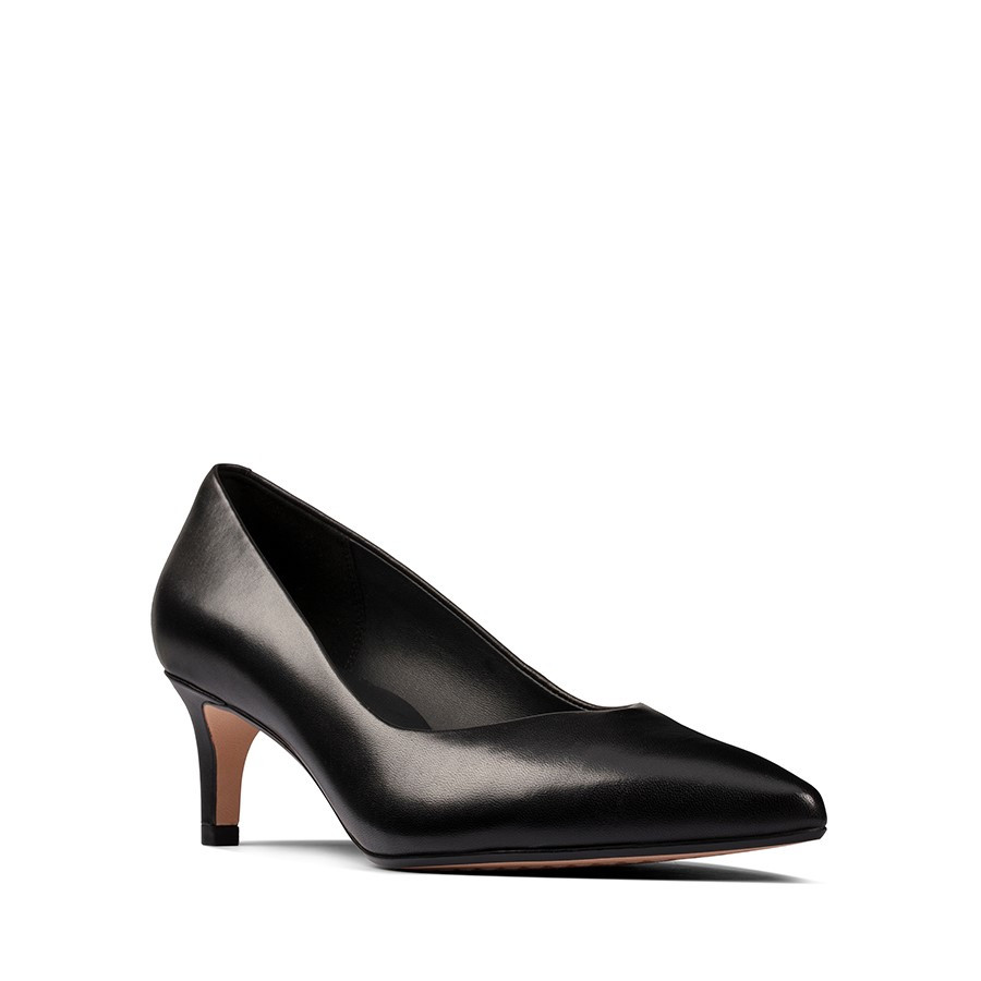 Clarks Laina55 Court2 Black Leather