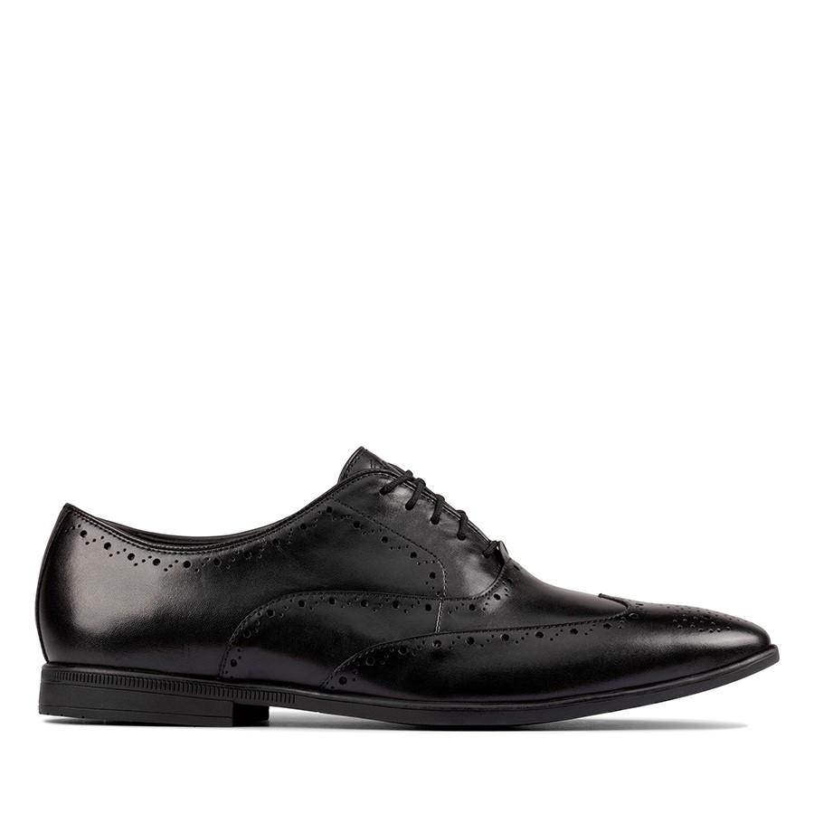 Clarks Bampton Rhodes Black Leather