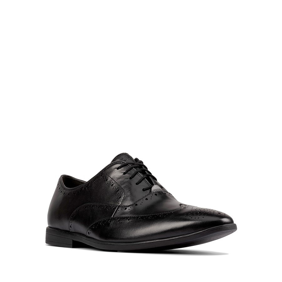 Clarks Bampton Rhodes Black Leather