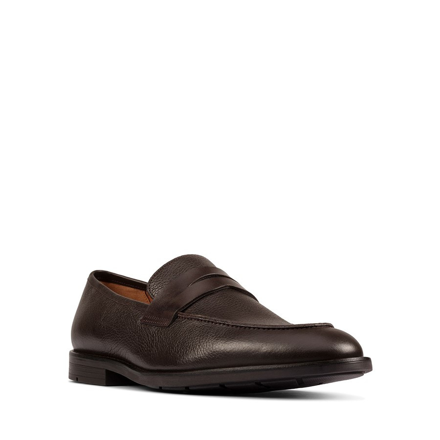 Clarks Ronnie Step Dark Brown Leather