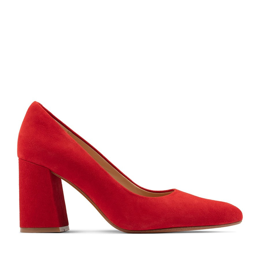 Clarks Laina85 Court Red Suede