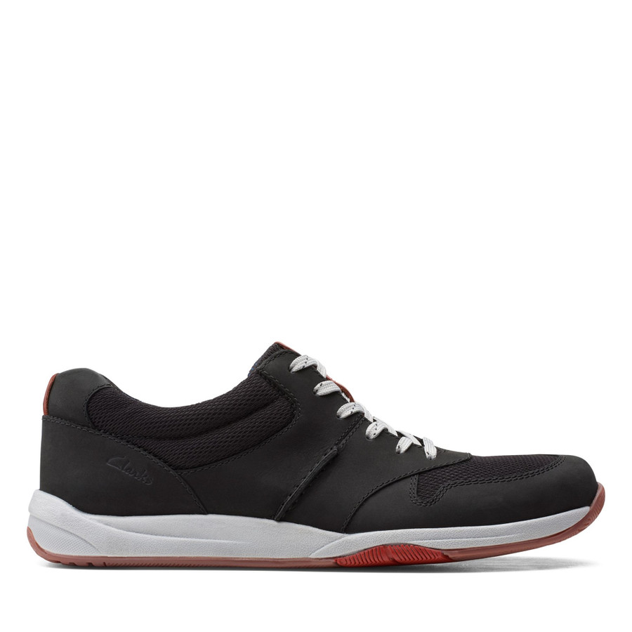 Clarks Langton Race Black Nubuck
