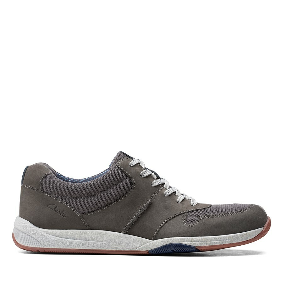 Clarks Langton Race Grey Nubuck