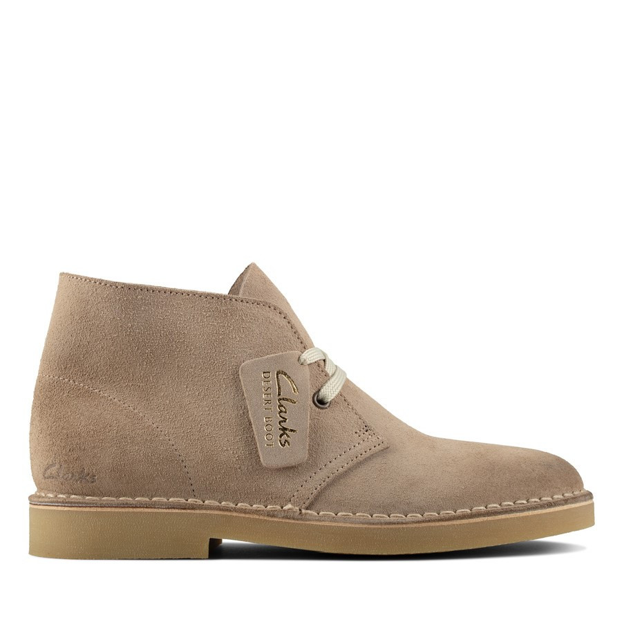 Clarks Desertboot Comfort Womens Sand Suede