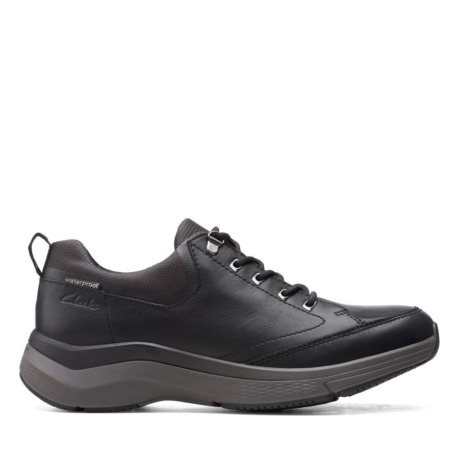 Clarks Wave2.0 Vibe Black Tumbled Leather