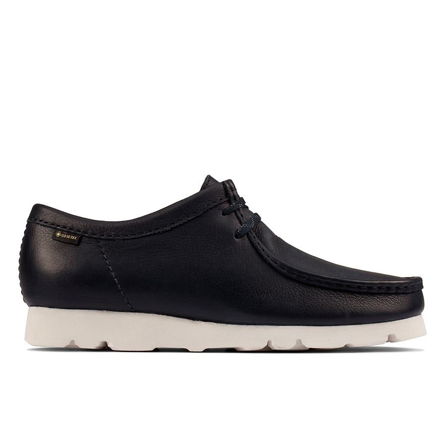 Clarks Wallabee Gtx (M) Navy Leather