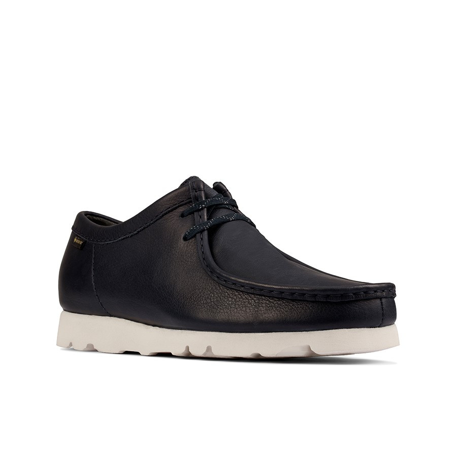 Clarks Wallabee Gtx (M) Navy Leather