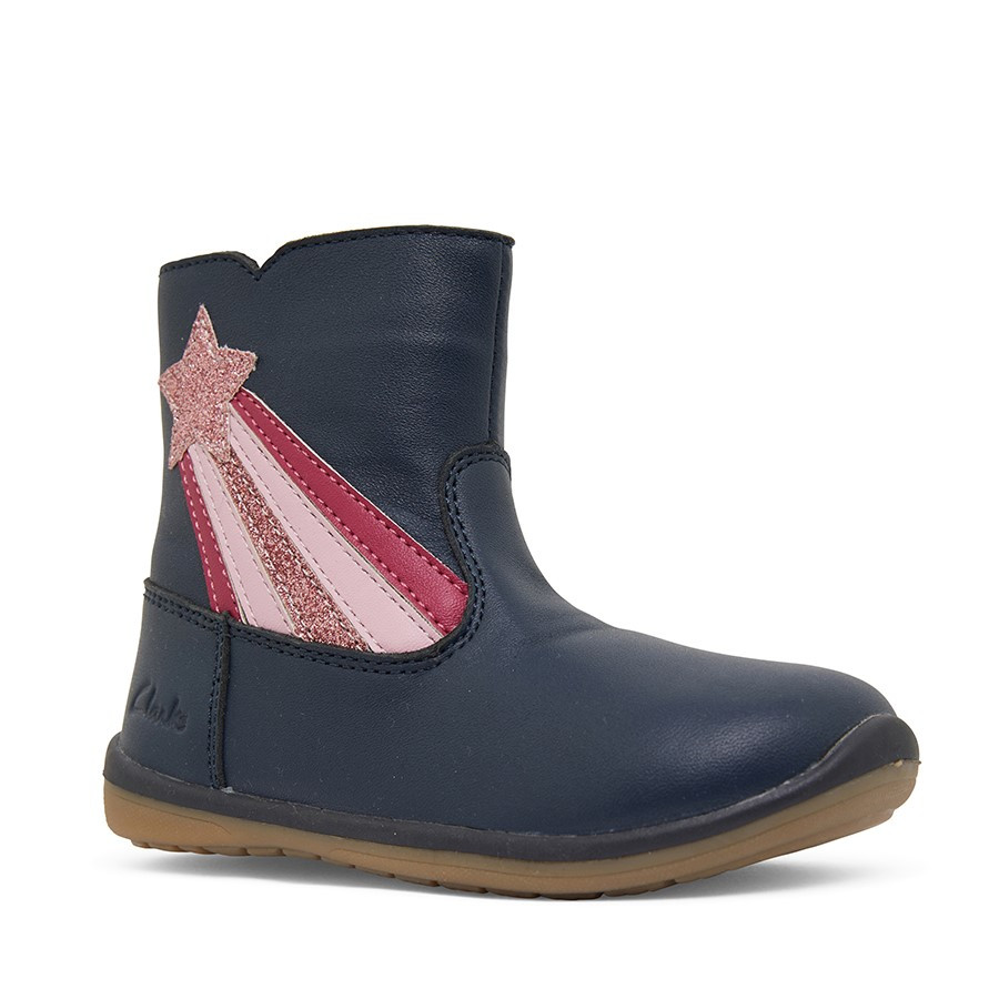Clarks Mazzy Navy/Pink