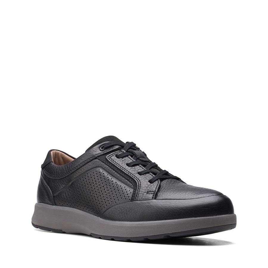 Clarks Un Trail Form2 Black Tumbled Leather