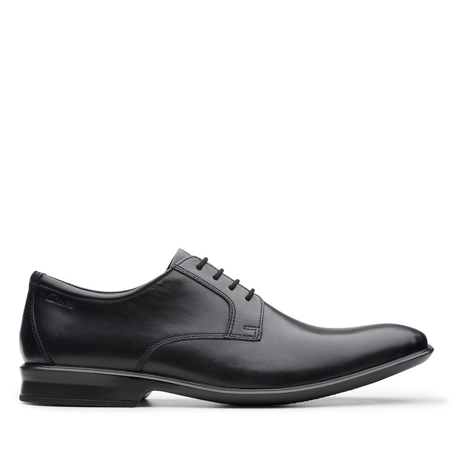 Clarks Bensley Lace Black Leather