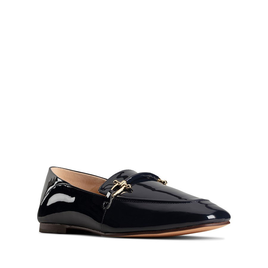 Clarks Pure2 Loafer Navy Patent