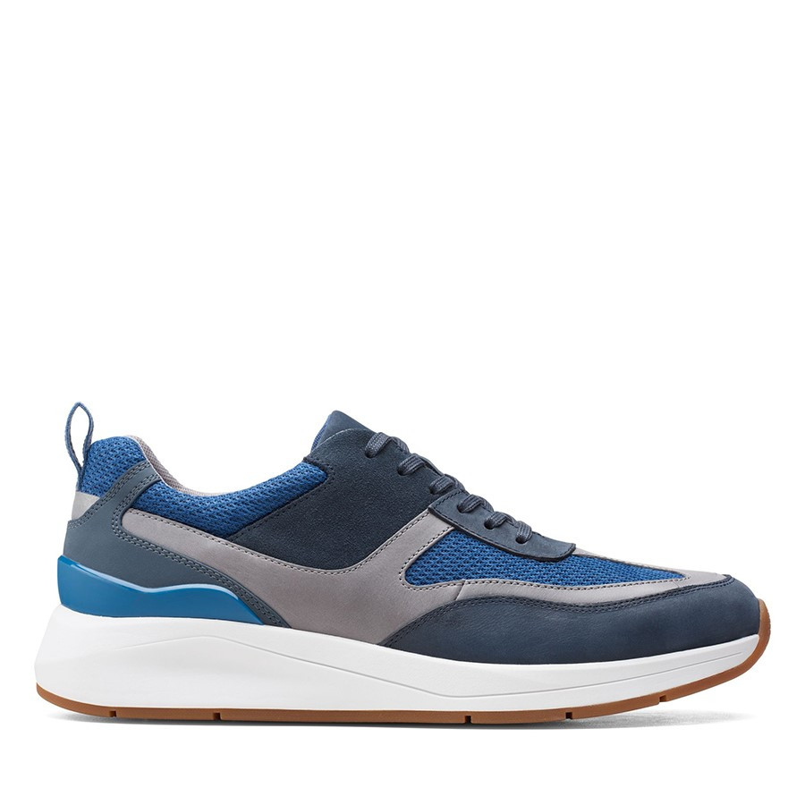 Clarks Coplin Flow Navy/Grey