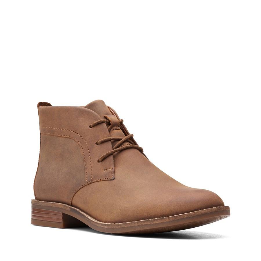 Clarks Camzin Grace Dark Tan Leather