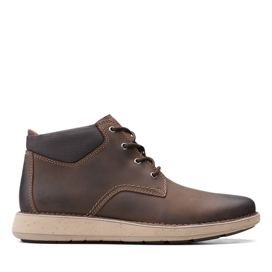 Clarks Un Larvik Top2 Brown Oily
