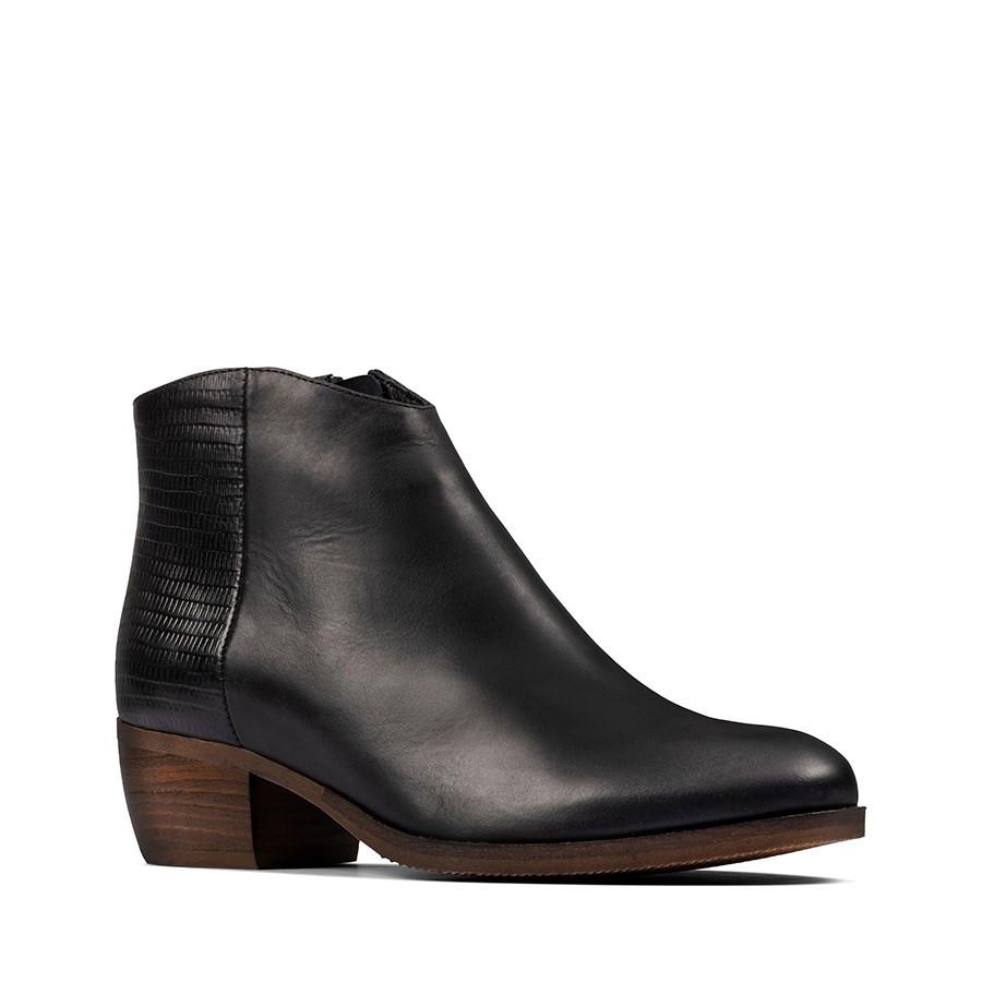 Clarks Mila Myth Black Combo Leather