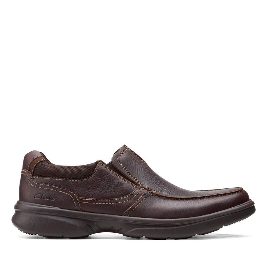 Clarks Bradley Free Dark Brown Tumbled