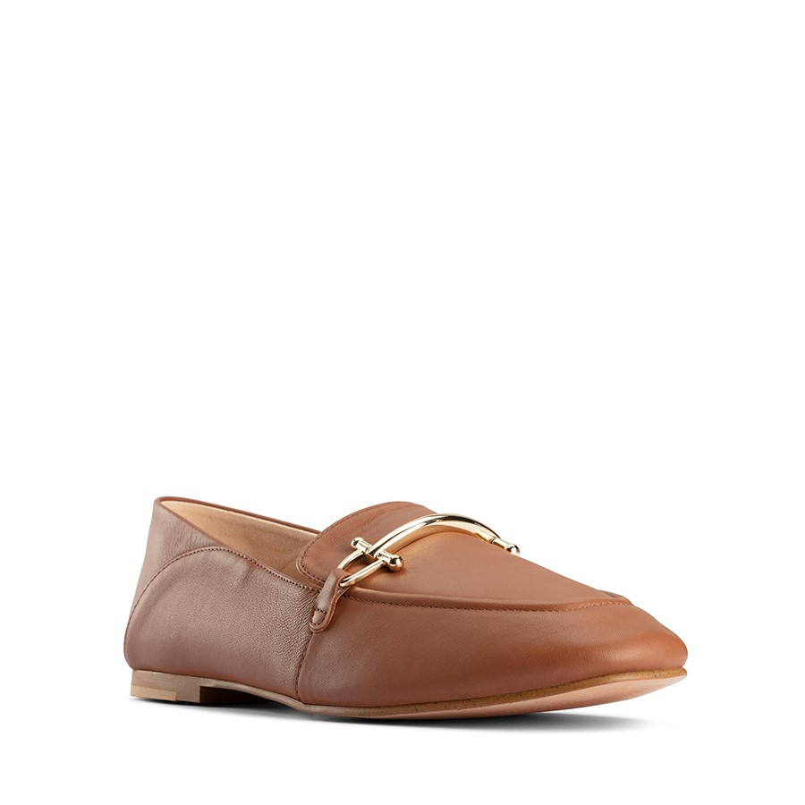 Clarks Pure2 Loafer Dark Tan Leather