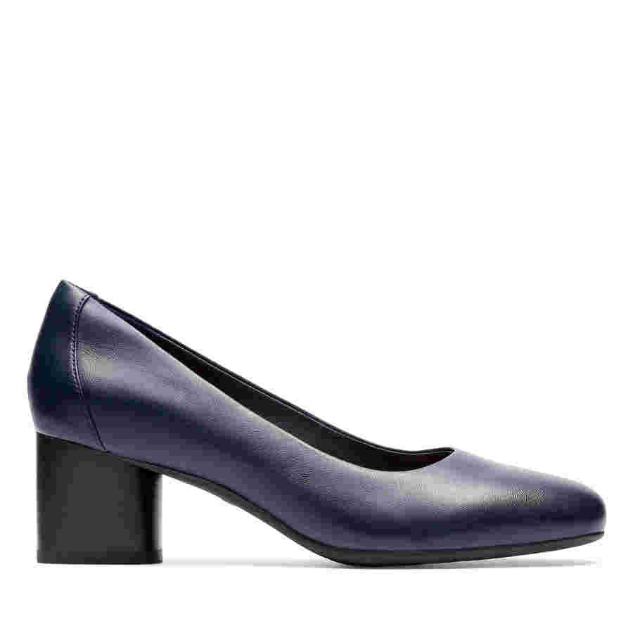 Clarks Un Cosmo Dress Navy Leather