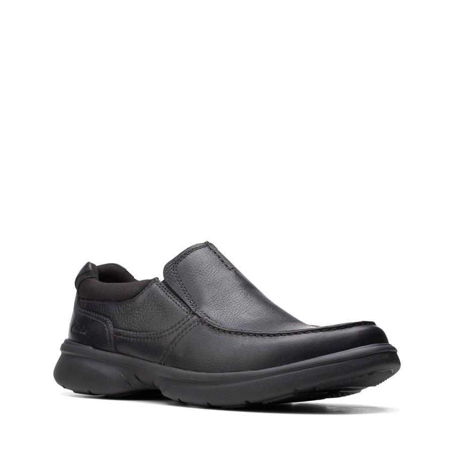 Clarks Bradley Free Black Tumbled Leather