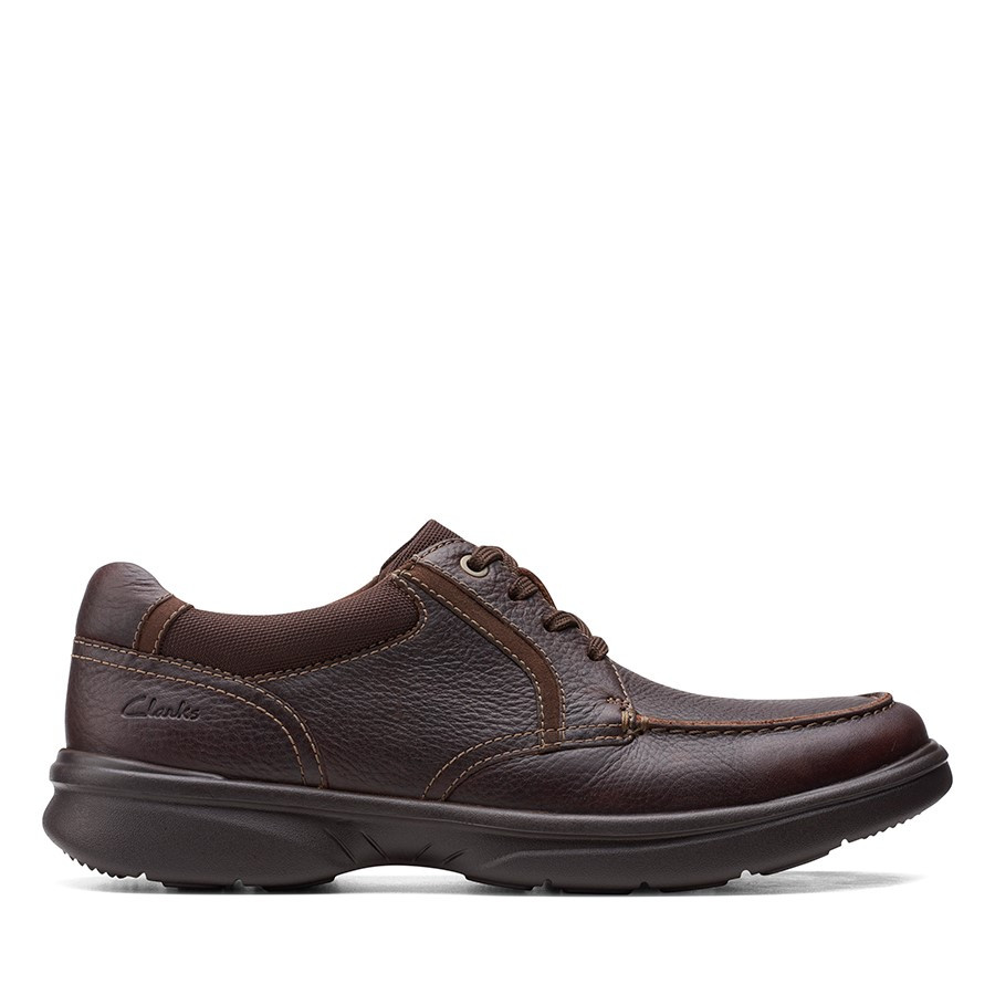 Clarks Bradley Vibe Dark Brown Tumbled