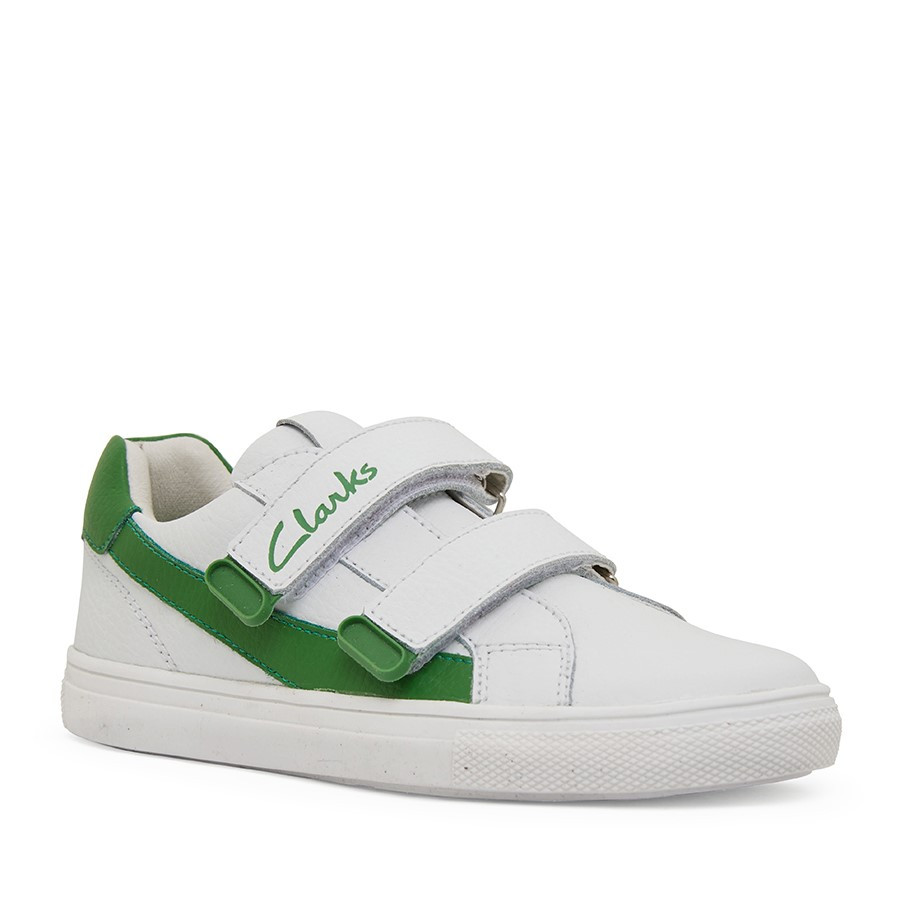 Clarks Echo White/Green