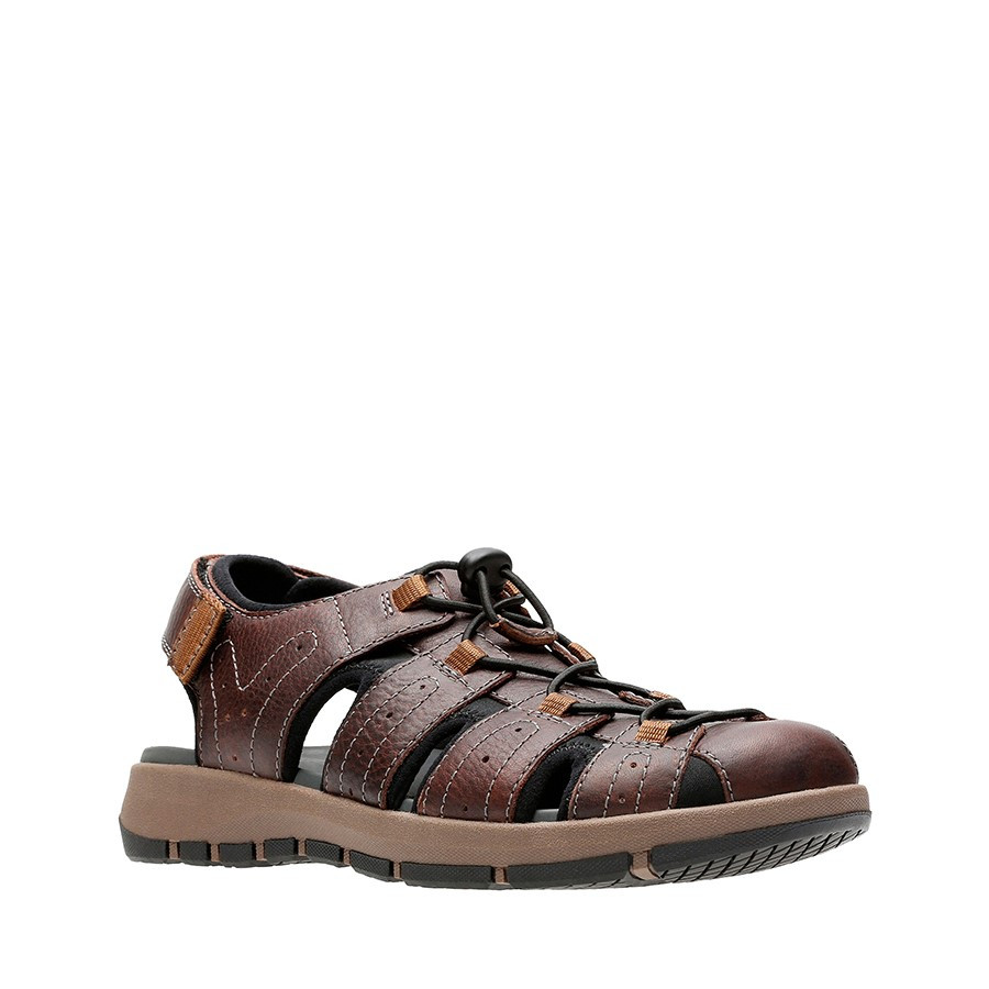 Clarks Brixby Cove Dark Brown Leather